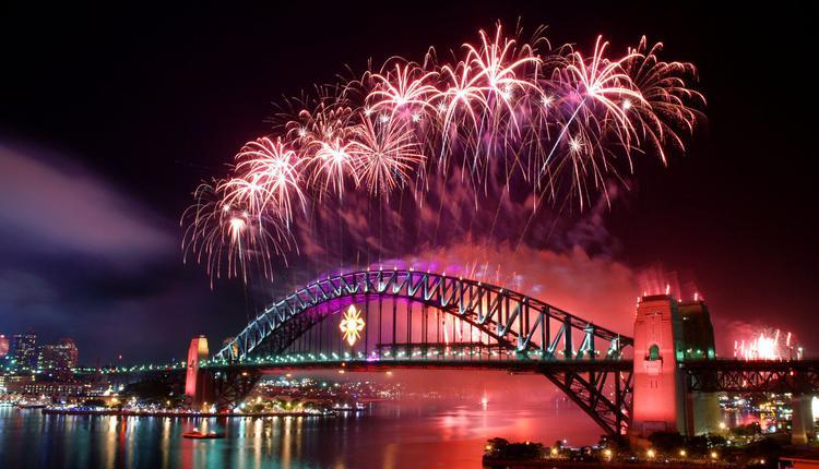 悉尼跨年夜烟花秀