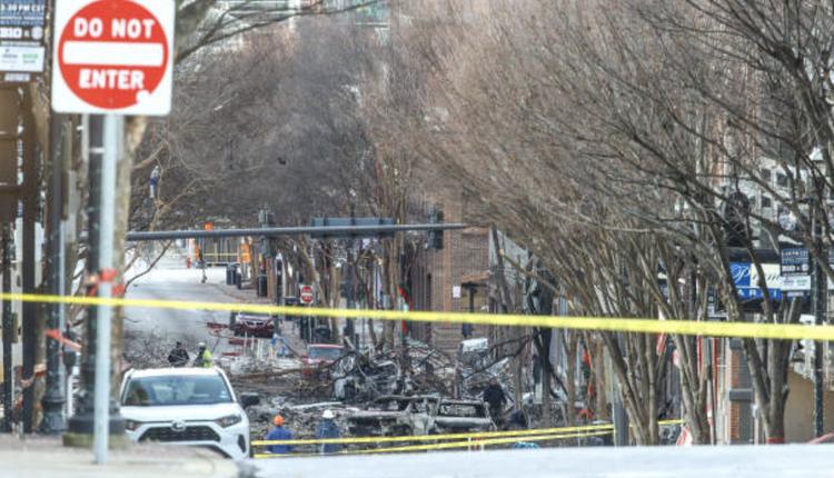 美国田纳西州爆炸案现场(图片来源:Wyatt/Getty Images)