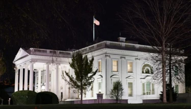 美国白宫夜景