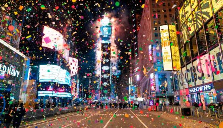 2020纽约时代广场跨年活动