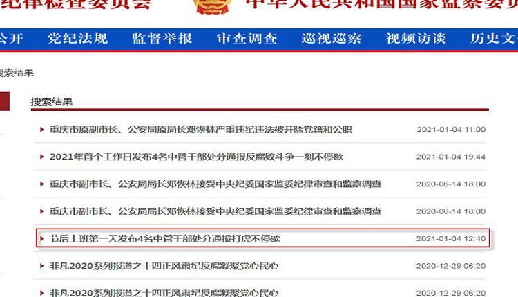 重庆市原副市长邓恢林被双开 罪名妄议中央