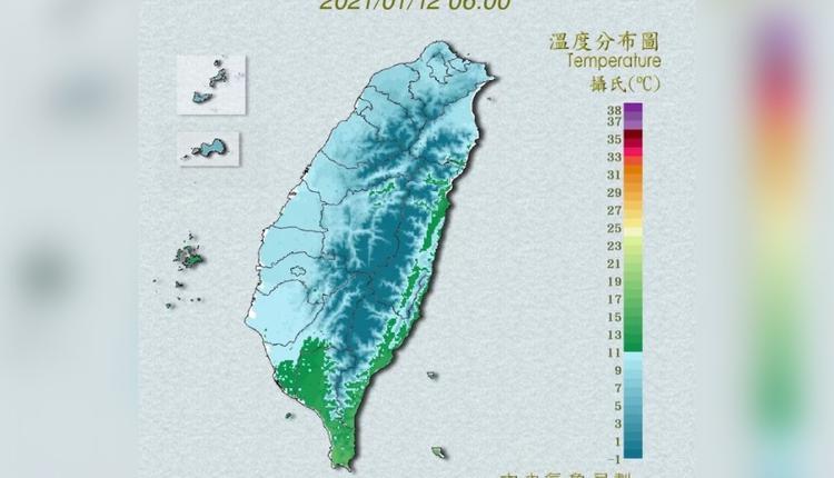 台湾连遭三波寒流袭击