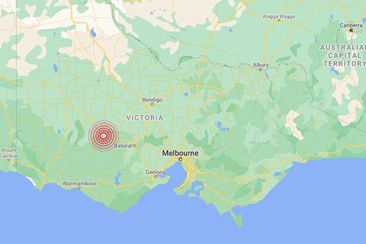 地震发生地图示