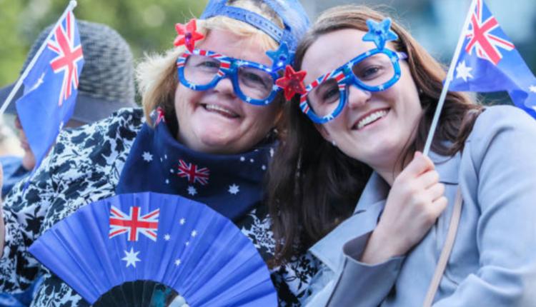 图为2020年庆祝澳洲国庆日的民众