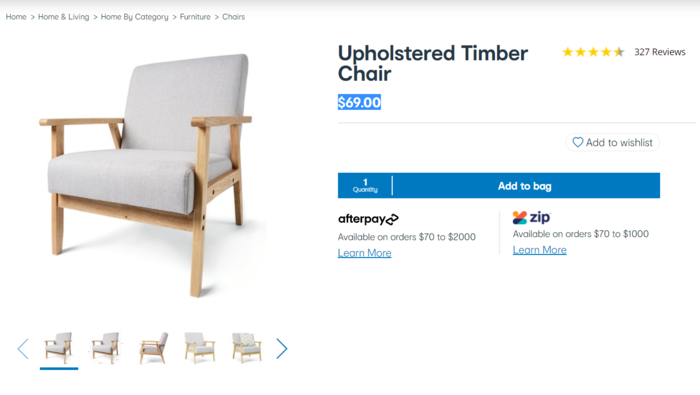 单人椅(Upholstered Timber Chair)