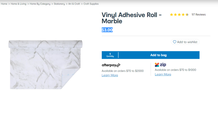 大理石贴纸(Vinyl Adhesive Roll - Marble)