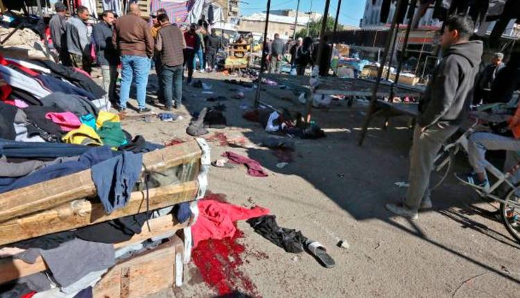 巴格达市中心一条繁华的商业街上发生两起自杀式爆炸