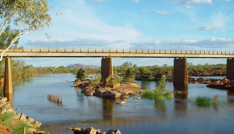 图为西澳Ashburton river