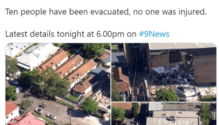 悉尼大楼坍塌