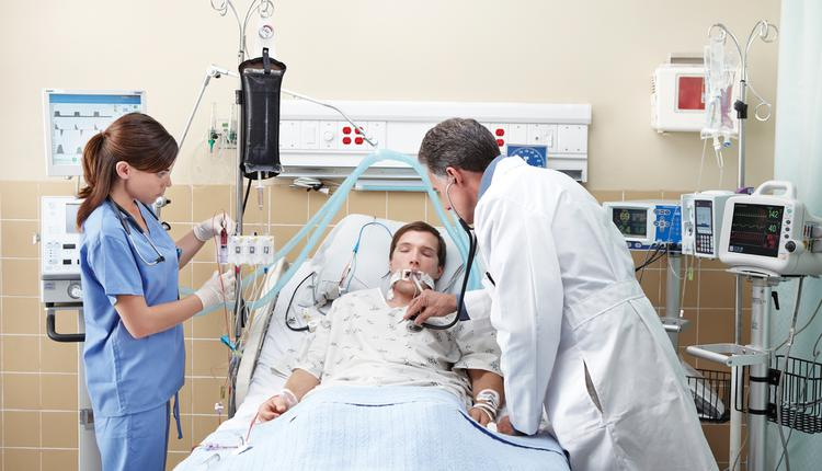 英国, NHS, 医院, ICU