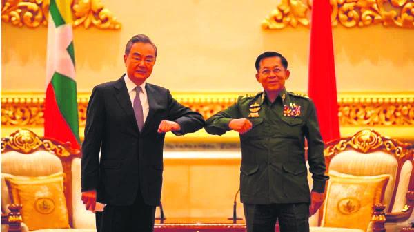 王毅与敏昂莱