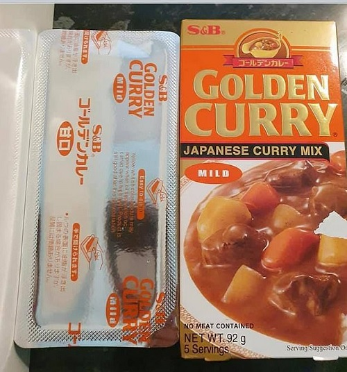 S&B Golden Curry Japanese curry mix