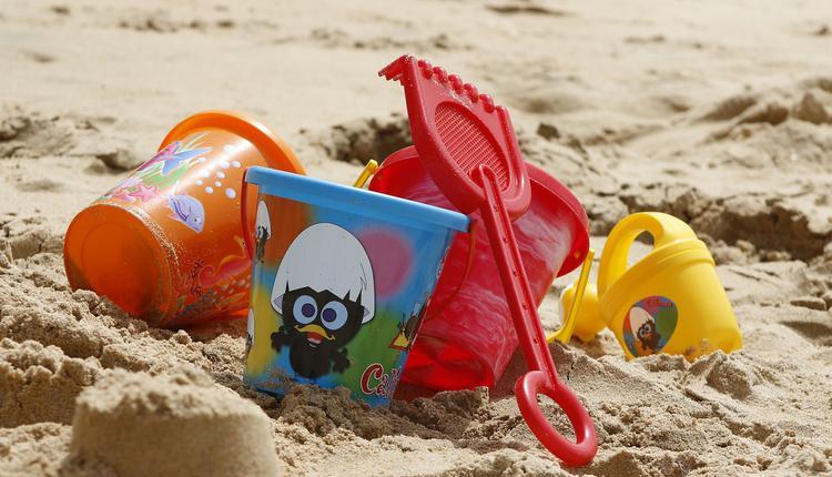 玩沙,沙滩