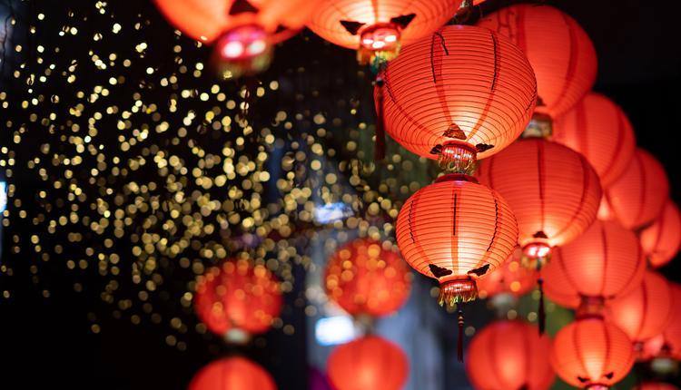中国新年、红灯笼