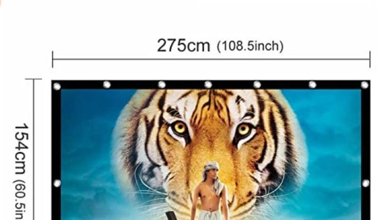 UTSLIVE 120英寸16:9简易投影机屏幕