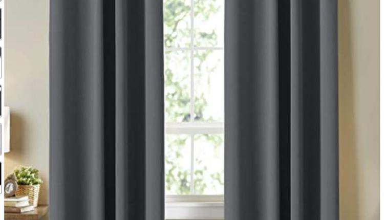 Smarcute's Blackout Grey Curtains