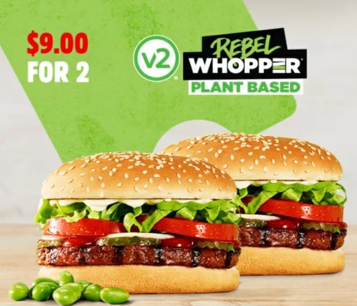 2 Rebel Whoppers $9