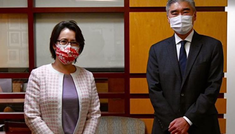 驻美代表萧美琴10日与美国国务院代理亚太助卿金成(Sung Kim)会面
