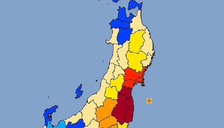 日本时间13日晚间23时8分发生规模7.1地震,福岛县与宫城县观测到震度6强。