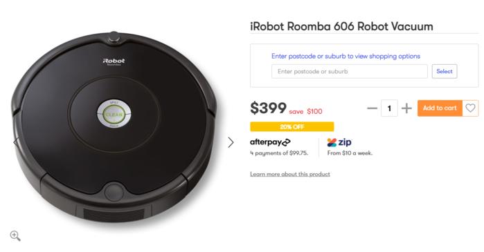 iRobot Roomba 606扫地机器人