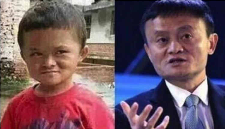 范小勤(左)长相酷似马云