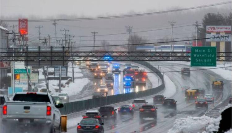 马萨诸塞州刚刚经历一场暴风雪