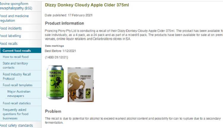 Dizzy Donkey Cloudy Apple Cider