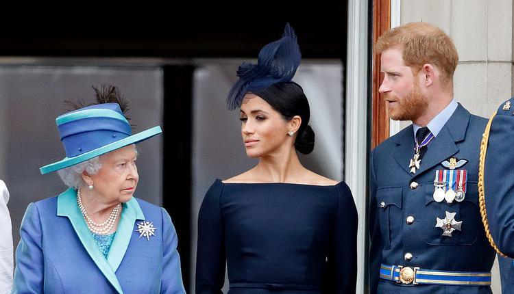 哈里王子夫妇与女王伊丽莎白二世