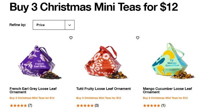 圣诞迷你茶叶