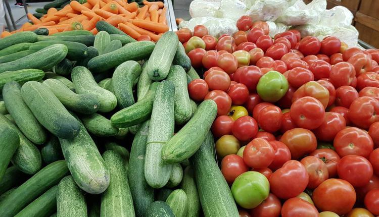 购物,超市,蔬菜,水果,黄瓜,番茄