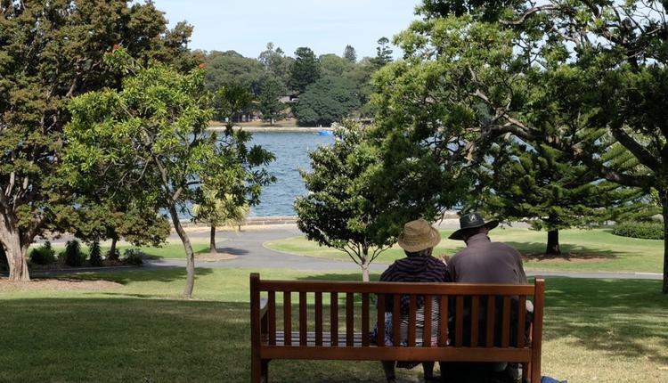 老人,公园,风景