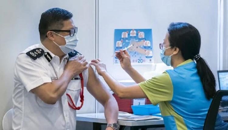 邓炳强接种疫苗
