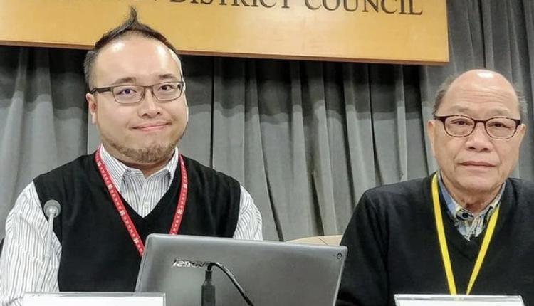 """香港民主派组织""""民主动力""""召集人赵家贤(左)"""