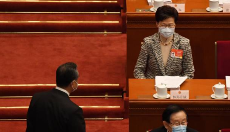 香港特首林郑月娥参加今年人大会议