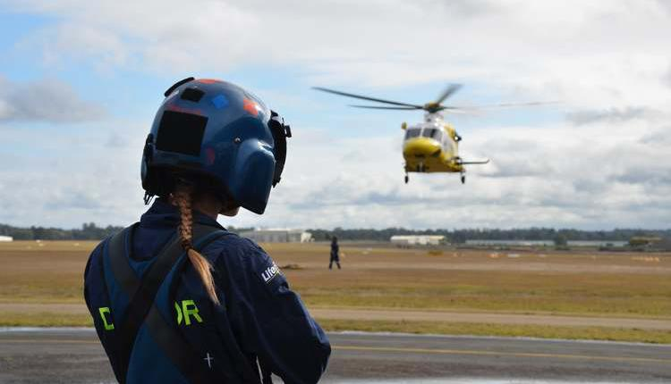 昆州救援组织(RACQ)的救生直升机