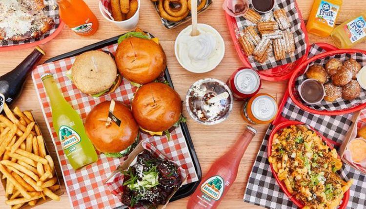 汉堡,快餐,披萨、食物