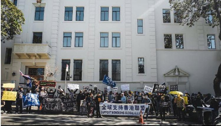 美国多地举办撑港集会 为47名香港民主人士发声