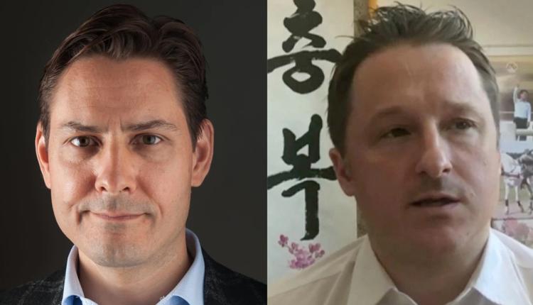 加拿大公民康明凯(Michael Kovrig ) (左)和迈克尔·斯帕弗(Michael Spavor)(右)