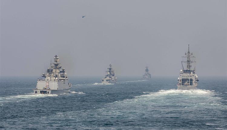 日美澳印去年11月在印度洋联合军演