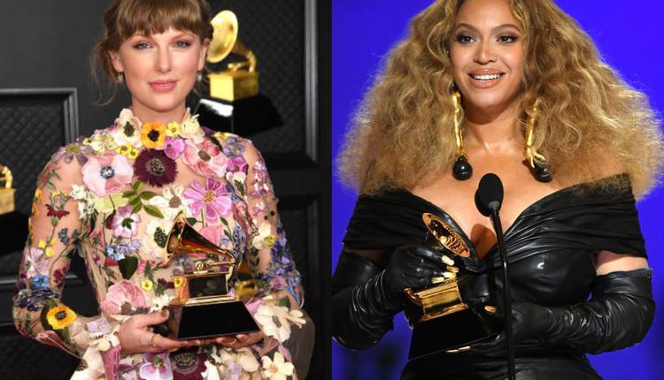 泰勒·斯威夫特(Taylor Swift)与碧昂斯(Beyonce)