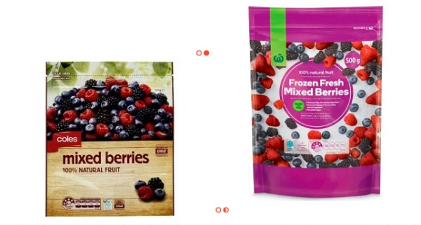 Coles / Woolworths的自制冻莓