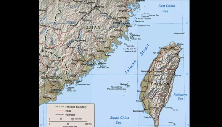 图为台湾海峡