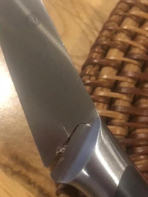 刀具几乎断裂