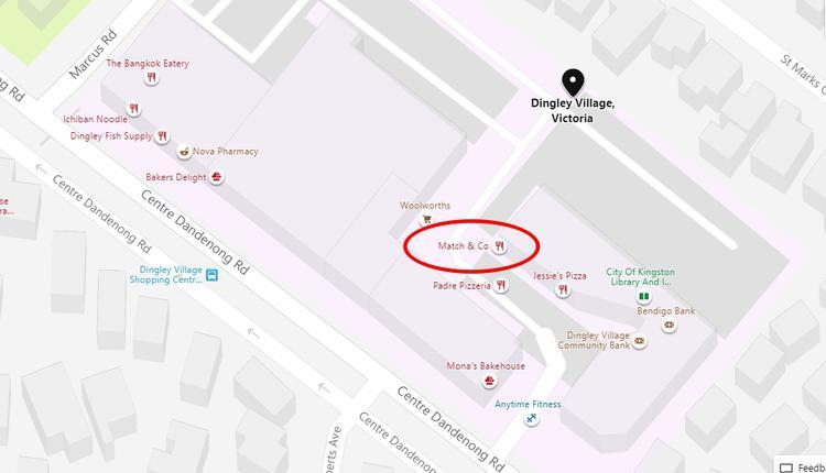 Dingley Village谷歌地图示意图