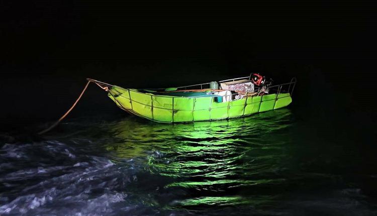 中国男自制浮具偷渡金门