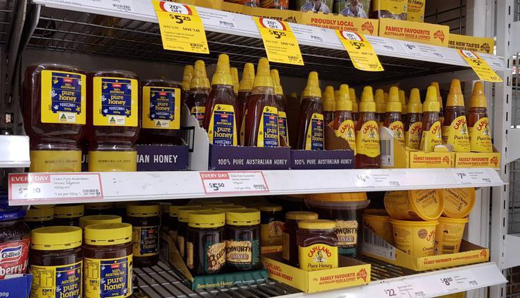 超市 购物 condiments 果酱 蜂蜜