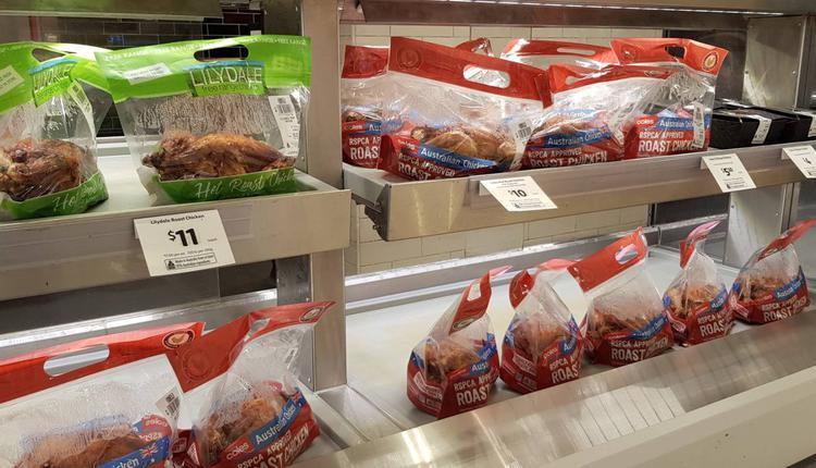 购物 超市 烤鸡