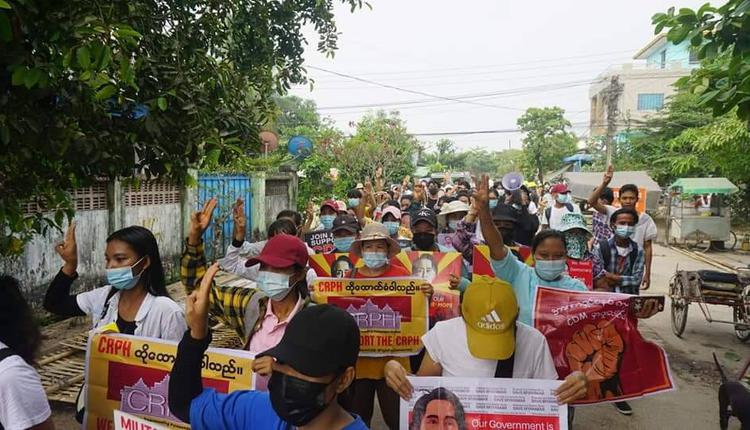 緬甸民眾抗議