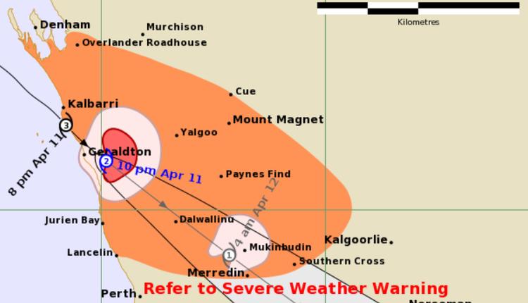 热带气旋Seroja登陆西澳