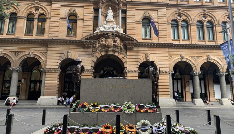 悉尼市中心 Sydney CBD Martin Place 马丁广场 Anzac Day 纽澳军团日